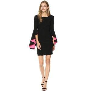 Nicole Miller Ruffle Bell Sleeve Shift Dress #2966